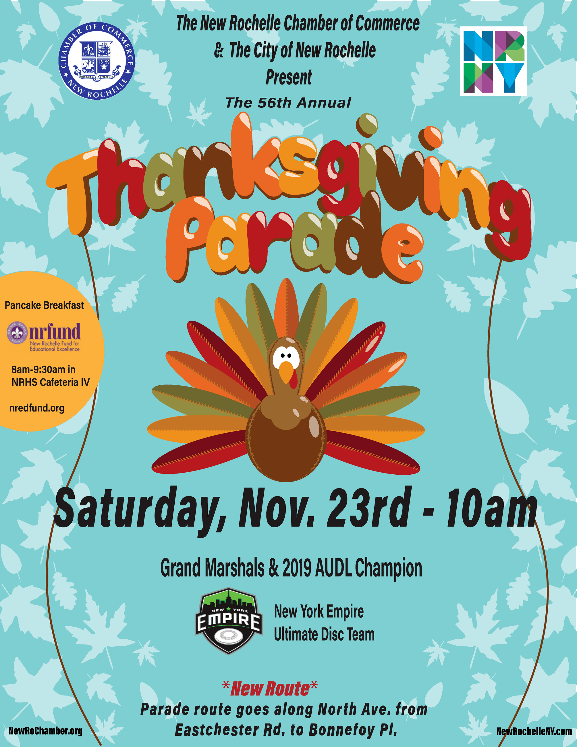 56th Annual Thanksgiving Parade Flyer 2019