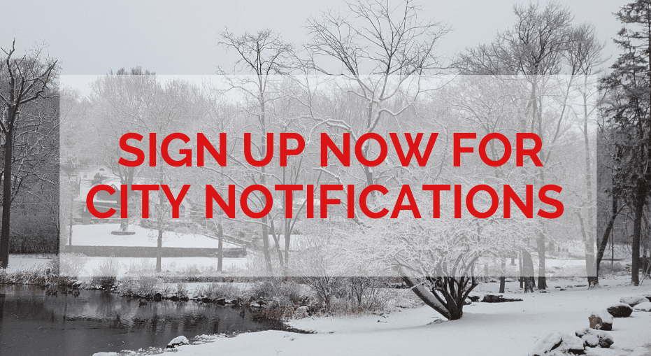 Sign up now for emercency notifications