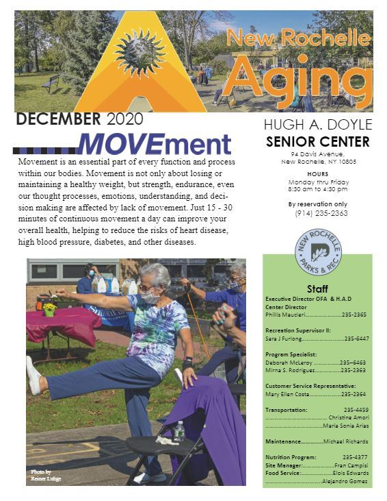 December 2020 _Senior Newsletter